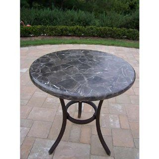 Espresso Stone Top Bistro Table  Patio, Lawn & Garden