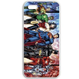 Customized Apple iPhone 5 Case Personalized DIY Comics Justice League Comic 12242 White Cell Phones & Accessories