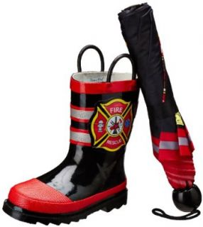 Western Chief Fire Rescue Boot & Umbrella Set (Toddler/Little Kid) Shoes