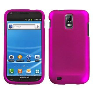 Asmyna SAMT989HPCSO212NP Titanium Premium Durable Rubberized Protective Case for Samsung Galaxy S II/SGH T989   1 Pack   Retail Packaging   Hot Pink Cell Phones & Accessories