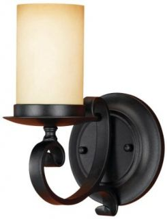 Murray Feiss WB1310BK King's Table 1 Light Wrought Iron Faux Candle Wall Sconce, Black   Wall Porch Lights
