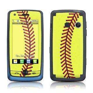 Softball Design Protective Decal Skin Sticker (High Gloss Coating) for LG Banter Touch UN510 Cell Phone Cell Phones & Accessories