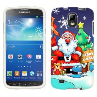 Samsung Galaxy S4 Active Merry Christmas, Santa Claus and Reindeer Phone Case Cover Cell Phones & Accessories