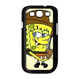 Personalized Custom Cartoon SpongeBob SquarePants Cover Case For Samsung Galaxy S3 I9300 Fitted Case S3SS23 Cell Phones & Accessories