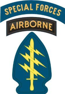 "United States Army Special Forces Airborne Tab Decal Sticker 3.8"" Automotive"