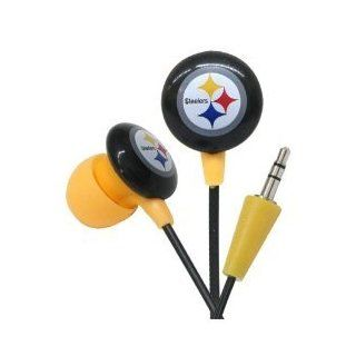 Pittsburgh Steelers NFL Team Logo iHip Ear buds (iPod, iPad, iPhone Compatible)  Sports Fan Headphones  Sports & Outdoors