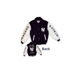 New York Yankees Youth / Kids 26 Time World Series Championship Wool Jacket  Outerwear Jackets  Clothing