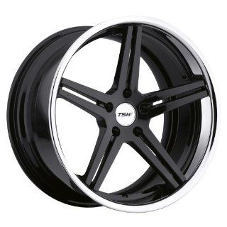 "TSW Mirabeau Gloss Black Wheel with Machined Lip (20""x10.5""/5x120mm) Automotive"