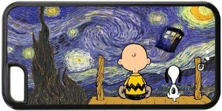 IPhone 5c Cartoon Peanuts Snoopy The Starry Night Doctor Who Tardis Phone Personality Hard Case Cover at NewOne Cell Phones & Accessories