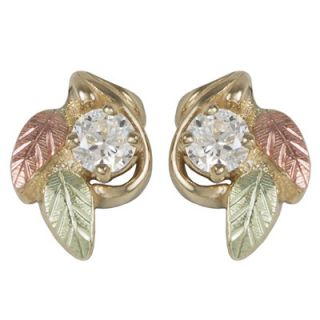gold white topaz leaf stud earrings orig $ 259 00 220 15 take an