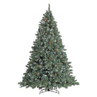 GKI Bethlehem Lighting Glacier Full Instant Power Pole Technology Tree 7.5ft with 650 Clear and white frost Lights   Christmas Trees