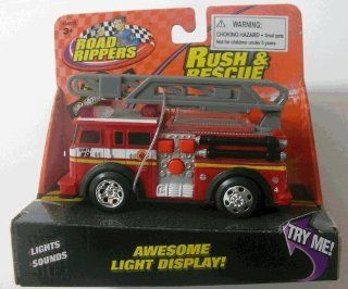 Road Rippers   Rush & Rescue Mini Fire Truck With Ladder Toys & Games