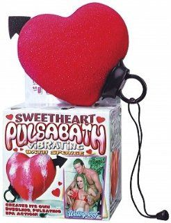 Pulsa Bath Waterproof Vibrating Massaging Bath Sponge HEART  Beauty