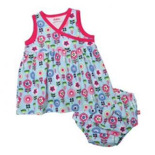 Zutano Baby Girls Newborn Dizzy Daisy Surplice Dress and Diaper Cover Set Clothing