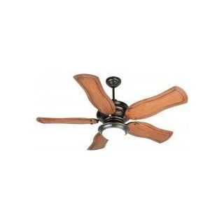 "Craftmade K10774 Townsend Indoor Ceiling Fan with Five 54"" Custom Carved Constantina Mahogany Bla, Oiled Bronze"