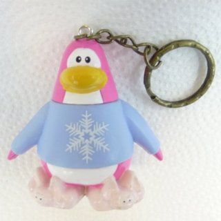 "Key Chain   Clip On   SPECIAL   Club Penguin SNOWFLAKE PRINCESS 2"" Vinyl Mini Figure   Also GREAT Christmas Ornament   Cake Topper   Mix and Match Body Sections   Highly Collectible and Hard to Find Toys & Games"