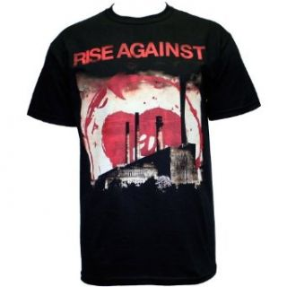 Rise Against   Smoke Stacks Mens T Shirt in Black Clothing