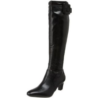 Franco Sarto Women's Maritime Knee High Boot, Black Premium Stretch, 5 M US Shoes