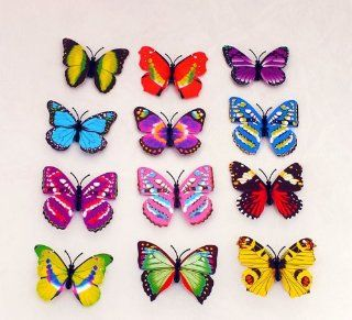 20PCs 10cm Simulated decor colorful butterfly with magnetic iron could easy stick to your fridge and other items with metal decorate your room Also could stick to the wall with adhesive Make your world with group of butterflysdecor butterfliesVarious