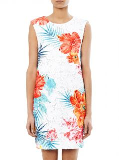 Floral embroidered sleeveless dress  MSGM