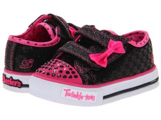 SKECHERS KIDS Shuffles   Sweet Step Lights 10284N Girls Shoes (Black)