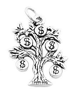 Sterling Silver Money Tree Charm Jewelry