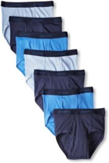 Hanes Men's Classics 7 Pack Full Cut Pre Shrunk Brief   Colors May Vary at  Men�s Clothing store Briefs Underwear