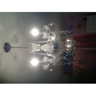 "CHANDELIER LIGHTING W/ CRYSTAL PINK HEARTS H 17"" W17""   PERFECT FOR KID'S AND GIRLS BEDROOM   Chandelier Lighting With Crystal Pink Hearts"