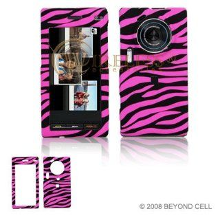 Hot Pink and Black Zebra Animal Skin Design Snap On Cover Hard Case Cell Phone Protector for Samsung Memoir T929 [Beyond Cell Packaging] Cell Phones & Accessories