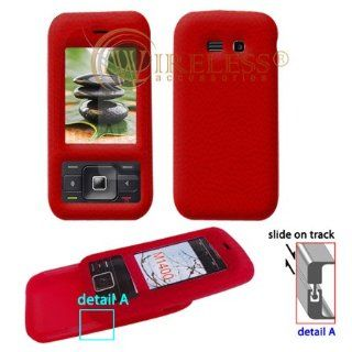 Premium Red Soft Silicone Gel Skin Cover Case for Kyocera Laylo M1400 [Beyond Cell Packaging] Cell Phones & Accessories