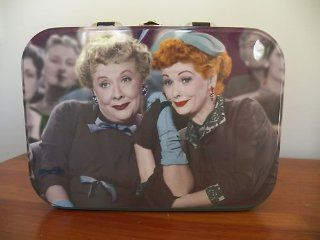 Vandor I Love Lucy Friends Large Tin Metal Lunchbox Featuring Two Different Pictures of Ethel and Lucy Kitchen & Dining