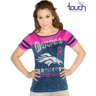 Touch by Alyssa Milano Denver Broncos Ladies BCA All Star Slim Fit Shirt   Royal Blue/Pink