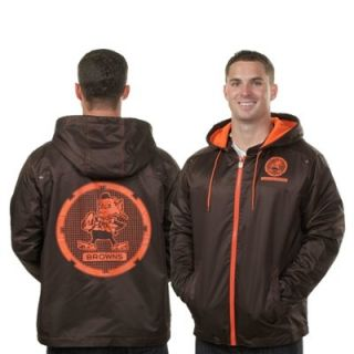 Pro Line Cleveland Browns Big & Tall Stingray Typhoon Full Zip Hooded Jacket   Brown