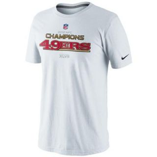 Nike San Francisco 49ers 2012 NFC Champions Trophy Collection T Shirt   White