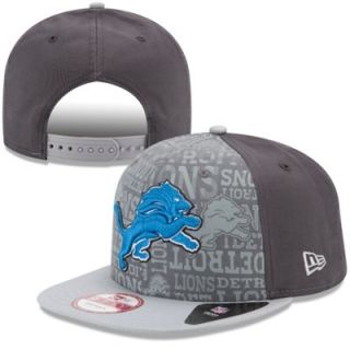 Mens New Era Graphite Detroit Lions 2014 NFL Draft 9FIFTY Snapback Hat