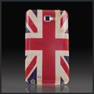 Patriot Antique Weathered UK British Flag hard case cover for Samsung Galaxy Note i9220 N7000 Cell Phones & Accessories