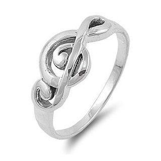9MM .925 Sterling Silver PLAY MUSIC NOTES Treble Clef Sheet Note Ring Band 4 9 Music Jewelry Jewelry