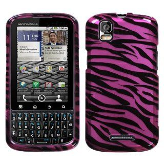 Hard Plastic Snap on Cover Fits Motorola XT610 A957 Droid Pro 2D Purple/Black Zebra Skin Verizon (does not fit Motorola A955 Droid II) Cell Phones & Accessories