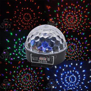 Amazing 6 Colors LED Crystal Magic Ball Effect light, Xmas Stage Lighting, DMX Disco DJ Paty Stage Light Musical Instruments