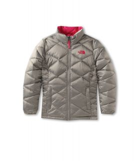 The North Face Kids Girls Aconcagua Jacket Little Kids Big Kids Metallic Silver Passion