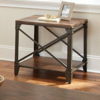 Winston Square End Table   Industrial End Table