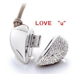 Heart shaped Enough 8gb USB 2.0 Memory Stick Flash Pen Drive Computers & Accessories