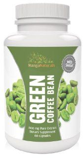 Pure Green Coffee Bean Extract with Pure Svetol Coffee Beans Dietary Supplement and 50% Chlorogenic Acids As Seen on Dr. Oz, Formulated Especially for Launching Your Green Coffee Bean Diet   Premium Quality   Fully Guaranteed By Manga Naturals Health &