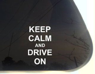 "Keep Calm and Drive On   3 1/2"" x 5 5/8"" funny chive die cut vinyl decal / sticker for window, truck, car, laptop, etc Automotive"