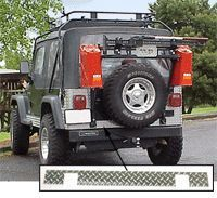 Warrior Products Aluminum Diamond Plate Backplate For Jeep