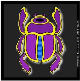 "EGYPTIAN BEETLE   PURPLE/BLACK   STICK ON CAR DECAL SIZE 3 1/2"" x 3 1/2""   VINYL DECAL WINDOW STICKER   NOTEBOOK, LAPTOP, WALL, WINDOWS, ETC. COOL BUMPERSTICKER   Automotive Decals"
