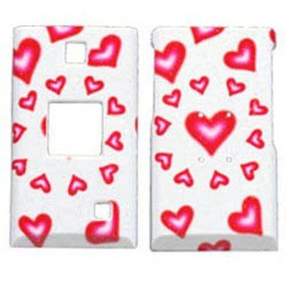 Hard Plastic Snap on Cover Fits Kyocera S4000 Mako Hearts(Sparkle) MetroPCS, etc Cell Phones & Accessories