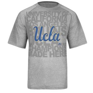 adidas College Climalite Big Logo T Shirt   Mens   Basketball   Clothing   UCLA Bruins   Grey