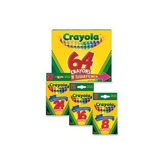 "Crayola LLC Products   Crayon Set, 3 5/8"", Permanent/Waterproof, 8/BX, Assorted   Sold as 1 BX   Bright, quality Crayola crayons in peggable box produce brilliant, even colors. Crayons are permanent and waterproof. Colors include black, blue, brown, g"