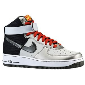 Nike Air Force 1 High   Mens   Basketball   Shoes   Black/White/Wolf Grey/Black